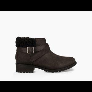 UGG waterproof leather Benson Boot Black Sz 8.5
